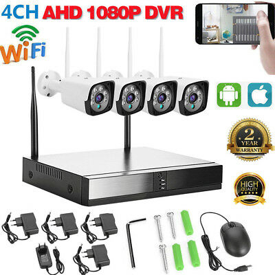 ZMODO 4CH HDMI NVR 1280*720p HD Audio WiFi IP Home Security Camera