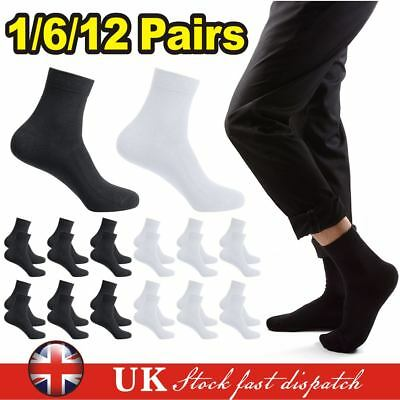12 Pairs Mens Womens Trainer Liner Ankle Cotton Rich Sports Gym Socks UK LOT