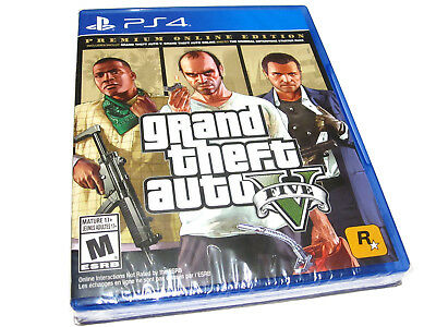 Grand Theft Auto V: Premium Online Edition (PlayStation 4) GTA 5 PS4 - NEW!