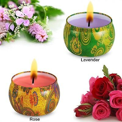 Candle Scented Candles Aromatherapy Holiday Fragrance Lavender Rose Relaxation