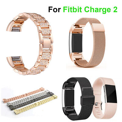 For Fitbit Charge 2 Watch Strap Replacement Band Milanese Stainless Steel Loop