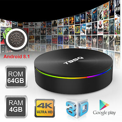 2019 4+64GB T95Q Android 8 1 Quad Core Smart TV Box WIFI HDMI2 1 H 265 4K  Media