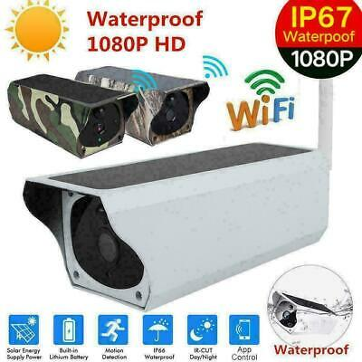 Wireless 1080P Solar Security IP Camera Wifi Surveillance Webcam IR Night Vision