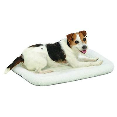 MidWest Deluxe Bolster Stand-Alone Pet Bed for Dogs & Cats 24-Inch White