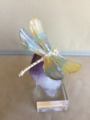 "Fluorite Dragonfly on Amethyst 5"" -Peter Muller"
