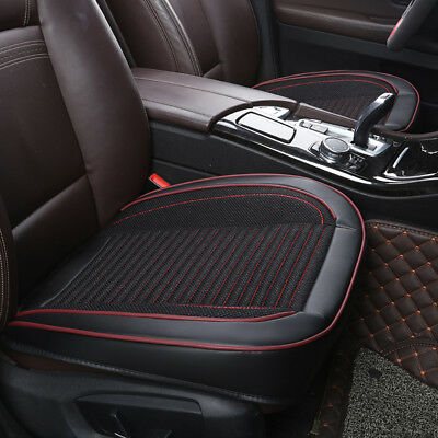 Breathable PU Leather Black Car Front Seat Cover Pad Mat for Auto Chair Cushion
