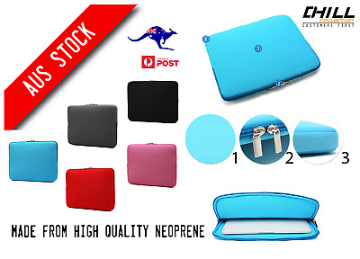 Soft Neoprene Sleeve Carry Case Cover Bag For MacBook Air/Pro 10/11/12/15 inch