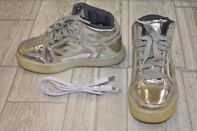 1970667260c0   SKECHERS Energy Lights - Eliptic Energy Sneaker - Little Boy s Size 12  -Silver