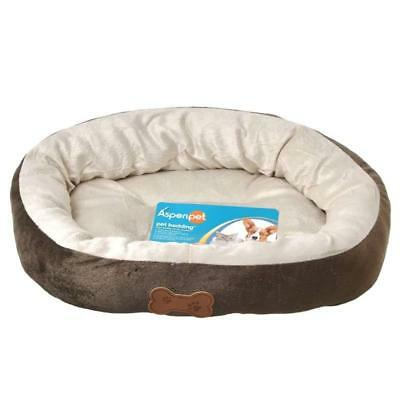Aspen Pet Oval with Bone Applique Soft Crate Mat 20 inch Chocolate Brown