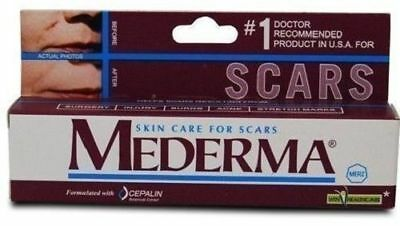 MEDERMA FOR SKIN CARE 10gm SCARS SURGERY BURNS ACNE STRETCH MARKS FREE SHIPPING