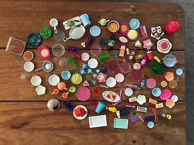 Lot of Barbie Doll Bratz Others Food Dishes Pots Pans Kitchen Misc. Accessories