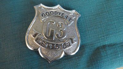 Vintage Goodyear Tires Inspector G3 Badge Factory