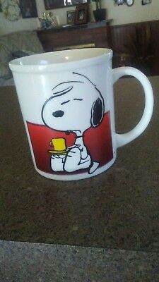 Snoopy I'm Not Worth A Thing Before Coffee Break! 1958 Coffee Mug