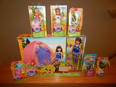Barbie CAMPING FUN TENT Skipper Chelsea Darrin Tye Dye Picnic Lot YEAR END DEAL!