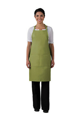 Three Pocket Butcher Apron Sage Green - 220 Daystar Made in the USA