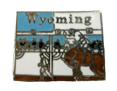 WYOMING STATE OUTLINE Hat Tac or Lapel Pin - $6 00 | PicClick