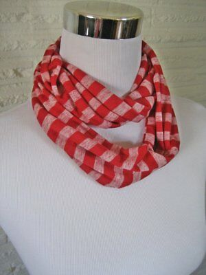 Baby TODDLER Child Red Stripe jersey knit Infinity Scarf Christmas PHOTO PROP