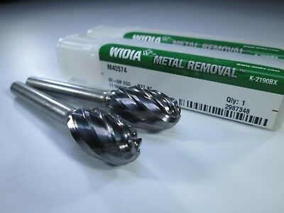 Carbide Bur,Angle,1//8 In WIDIA METAL REMOVAL M40462