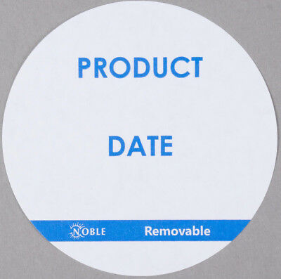 """6000 CASE Food Rotation Product Date Removable 3"""" Round Label Dispenser Sticker"""