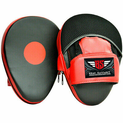 Boxing Focus Pads Muay Thai MMA Kick Strike Curved Arm Punching Shield Mitts