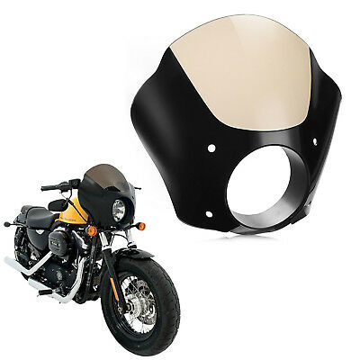 Windshield Cafe Racer Windscreen Fairing For Harley XL883N Iron Sportster BS1