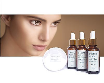 ★PACK PEELING ACIDO GLICOLICO 30 ml+NEUTRALIZADOR★Kit:10 20 35 50 o 70%