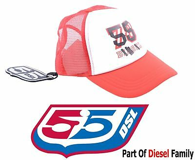 55DSL NEGGO D413 Mens Baseball Cap Black Red Unisex Adjustable Sports Hat RRP35