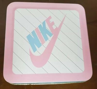 Vintage 1988 Nike Tin Shoe Box White/Pink for Pink & Blue Baby Shoes