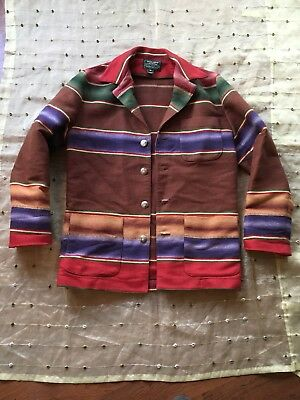 acd591848 Vintage Ralph Lauren Polo Country Mens S Wool Indian Blanket Barn Coat USA  Made