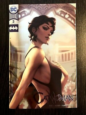 Catwoman #3 2018 DC Foil NYCC By Stanley Artgerm Lau Variant NM+