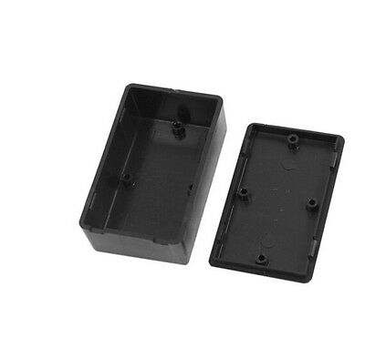 2x Black Plastic Cover Project Electronic Instrument Case Enclosure Box—AY
