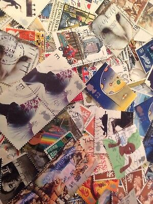 gb stamp collection. Collection Of 200 Purely GB Stamps