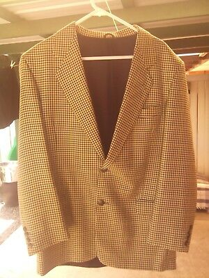Pierre Balmain Men's Vintage Orly Jacket in a Multi-Coloured Check Size 48 Eur