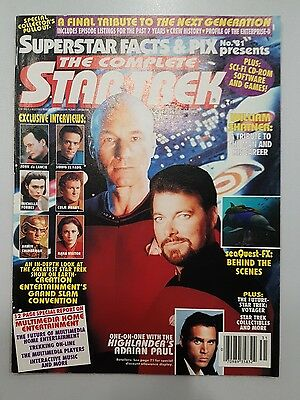1994 Superstar Facts & Pix : The Complete Star Trek Mag **good** + Pull Out