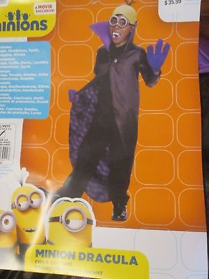 Boys Halloween MINIONS DRACULA Child Costume Small 4-6 (for 3-4 years old) RT$35