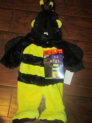 Girls r Boys PLUSH costume Hooded BUMBLE BEE Outfit 0-6m months RT$25 SPRING