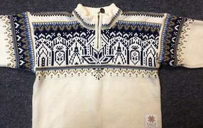 DALE of NORWAY kids 2006 Torino 100% wool Pullover Ski Sweater size 6