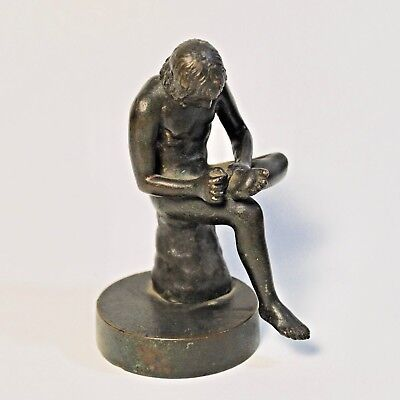 Antique Statue Sculpture after Boy with Thorn, Fedelino/Spinario.19th C