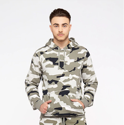 09bfc931b40a Sweat capuche NIKE NSW Camo Camouflage Taille M Blanc beige noir Neuf Hoodie