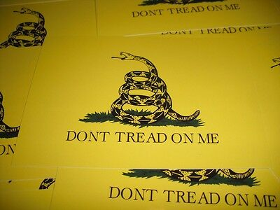 "Dont Tread on Me Sticker Gadsden Flag Decal 4"" Vinyl USA Military"