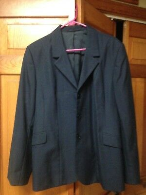 Used Beaufort Navy Pinstripe Show Jacket in Size 24R