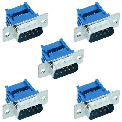 5 x 9-Way IDC Male D Plug Connector