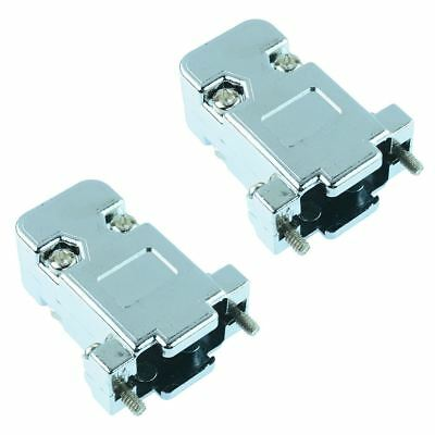 2 x 9-Way Metallised D Connector Hood Cover