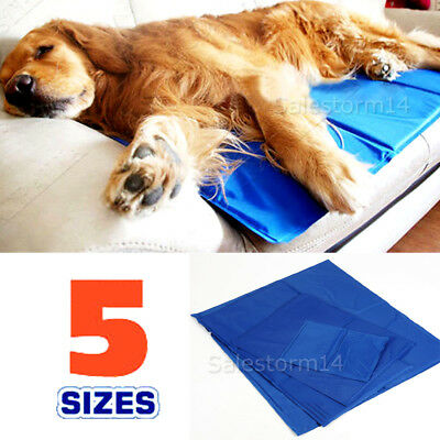 FAST POST Pet Cool Gel Mat Dog Cat Bed Non-Toxic Cooling Dog Summer Pad 4 Sizes