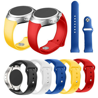 For Samsung Galaxy Gear S2 SM-R720 Replacement Luxury Silicone Watch Band Strap