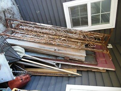 Lot of 4 Vintage Wrought Iron Railing Architectural Salvage  Porch Column POST