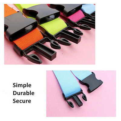 Adjustable Luggage Straps Tie Down Belt Baggage Buckle Lock Multiple colors