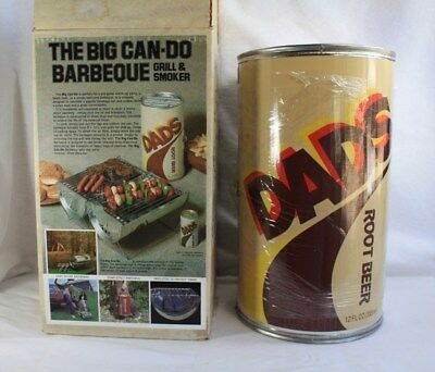 Vtg Rare Dad's Root Beer The Big Can Do Barbeque BBQ Grill & Smoker Brand New!