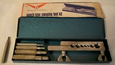 Vintage Imperial-Eastman Punch-Type Swaging Tool Kit Old Stock 93-S