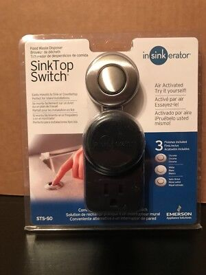 In Sink Erator STS-SO Sink Top Switch w/ Chrome, Satin Nickel & White Finishes